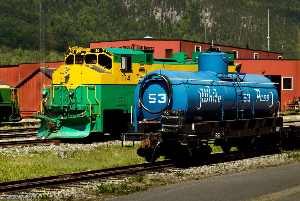 Railroad Yard, White Pass RR.