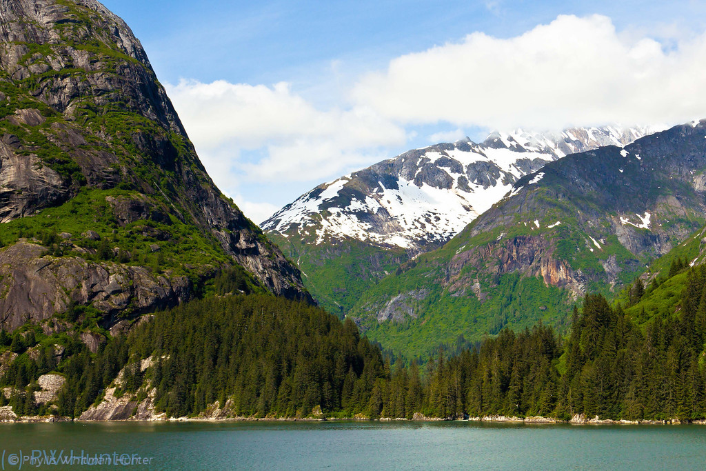 From Mountains to the Sea.  A view from Tracy Arm Fjord, Alaska on a rare sunny day.